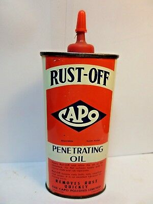 #6 VINTAGE VERY RARE 1950's CAPO RUST-OFF PENETRATING OIL TIN CAN HANDY OILER