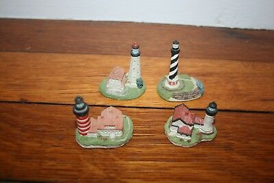 Harbour Lights 4 Miniature Lighthouses Collectors Society SpyGlass Collectibles