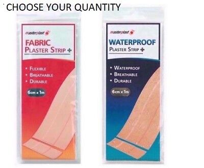 Cut To Size Fabric Or Waterproof Plaster Strip, 1M Long, Plasters, First Aid