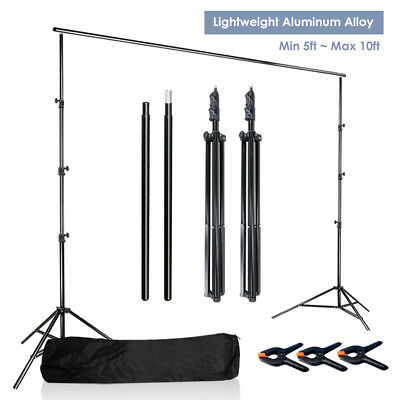 3.75in Photography Muslin Backdrop Clamps 7.5ft Studio Background Support System