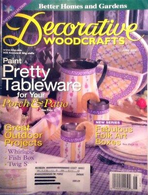 """""""Decorative Woodcrafts"""" Pretty Tableware Projects Folk Art Tole Painting Book"""