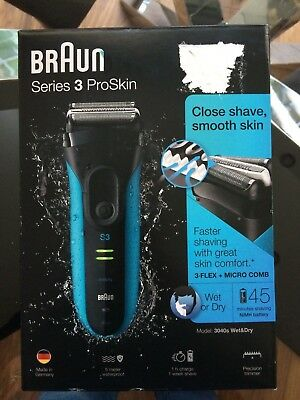 Braun Series 3 Proskin 3040S Wet & Dry Shaver Bnib Cheapest On Ebay!