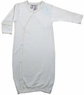 Organic Cotton Baby Clothes Sleepwear Kimono Gown GOTS Certified Natural, 0-6m