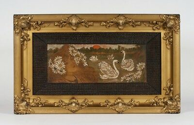 Art Nouveau - Arts & Crafts Signed Pyrography Painting - French C. 1900