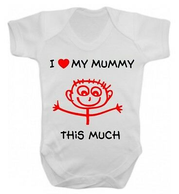 I Love My Mummy This Much Cute Baby Vest All in One Baby Gift