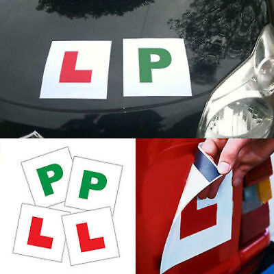 PACK OF 2 x MAGNETIC LEARNER RED L PLATES FRONT AND BACK CAR LEARNER DRIVER
