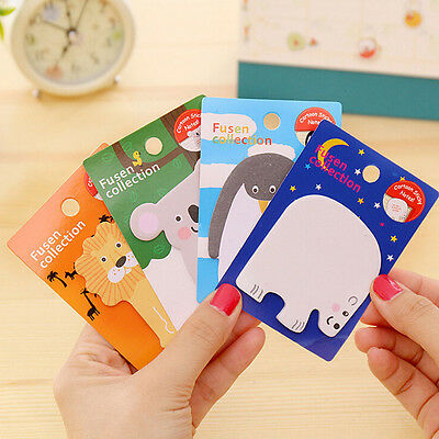 2 sheet Animals Memo Pad Paper Sticker Sticky Notes Stationery School Supplies &