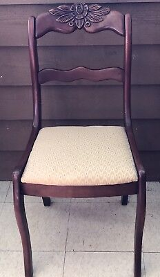 Carved Rose Back Cherry Dining Chairs by Consider H. Willett Louisville Ky