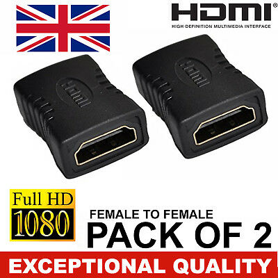 New Quality Hdmi Extender Female To Female Coupler Adapter Connector For Hdtv Uk