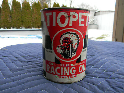 Tiona Petroleum Co Tiopet Quart Racing Oil Full Unopened Can