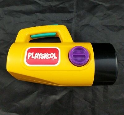 Vintage 1986 Playskool Red Green Color Change Children's YELLOW Flashlight WORKS