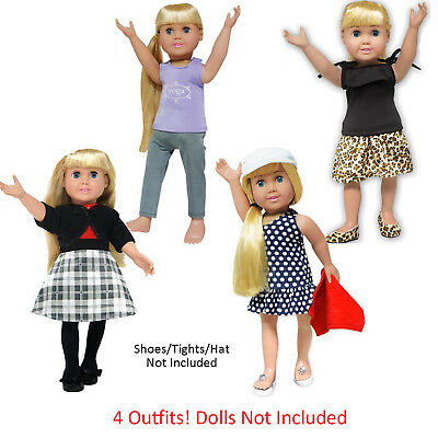 """SF Springfield SET 4 Piece Lot Outfits for 18"""" American Girl Doll Clothes NEW"""