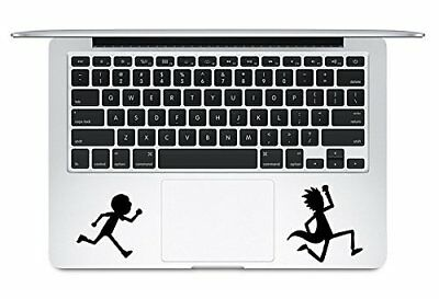 Trackpad Rick And Morty Running Vinyl Sticker Decal Apple Macbook Laptop Car