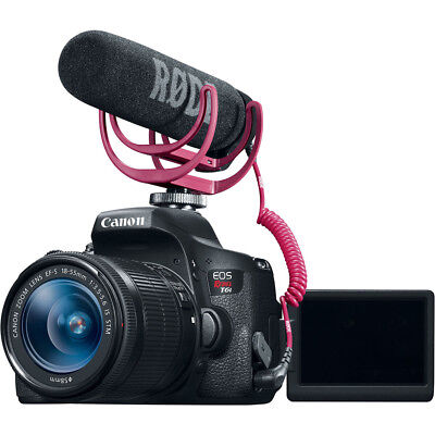 Canon EOS Rebel T6i Video Creator Kit with EF-S 18-55mm f/3.5-5.6 IS STM Lens,