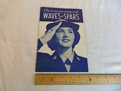 WWII Recruitment Pamphlet WAVES (Navy) and SPARS (Coast Guard) - Clean A+ Shape