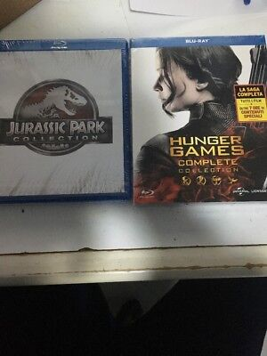 Complete Collection :Hunger Games   4 Blu Ray + Jurassic Park 4 Blu Ray