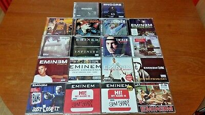 Job Lot Bundle Collection of EMINEM CD Albums & Singles - All listed & in VGC