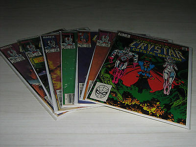 7 Marvel Comic Lot 1983-1984 Crystar Crystal Warrior #3 #4 #5 #6 #7 #10 #11 Vg