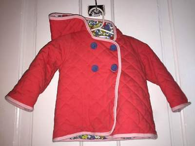 Mini Boden Cozy Red Quilted Jacket Baby Girl 12-18 Months