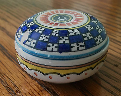 """Deruta Painted Covered Trinket Box 2"""" Made in Italy"""