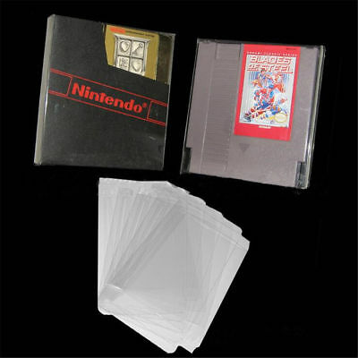 2X Clear PET Protective Box Case Sleeves Covers For NES SNES N64 CIB Boxed Games