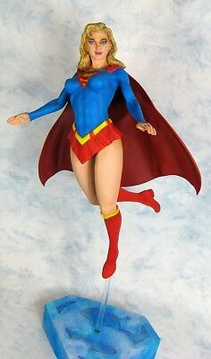 Very Sexy 1/5 Supergirl Resin Model Kit High Quality White Resin W/base
