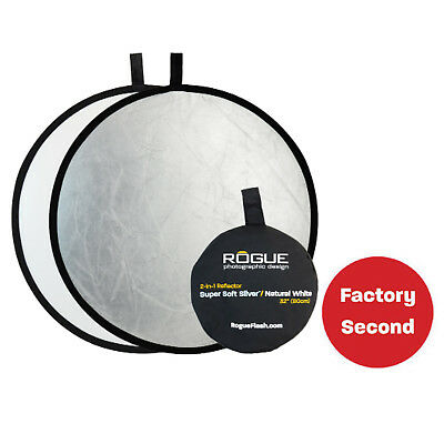 "FACTORY SECOND: Rogue 32"" Super Soft Silver/Natural White Collapsible Reflector"