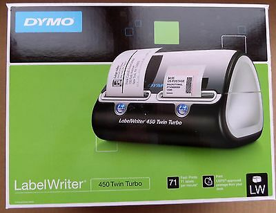 DYMO LabelWriter 450 Twin Turbo Label Printer 1752266 71 labels/minute thermal