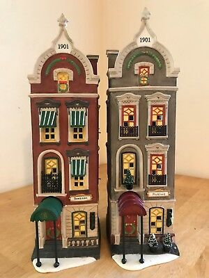 Department 56 Christmas in City - BEEKMAN HOUSE & PICKFORD PLACE - Set Dept CIC