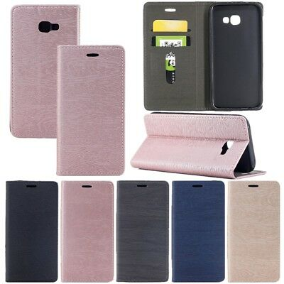Noble Leather Card Pocket Flip Stand Wallet Case Cover For Samsung Galaxy Serise