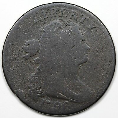 1796 Draped Bust Large Cent, Reverse of '94, AG detail