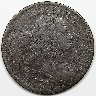 1797 Draped Bust Large Cent, Reverse of '97, Stems, F detail