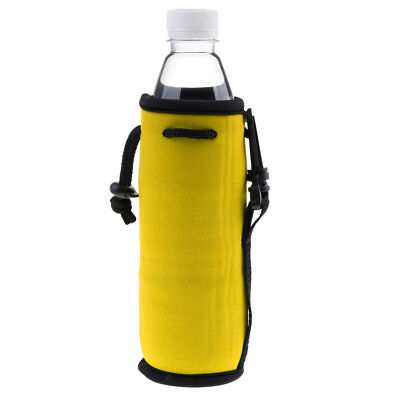 Baoblaze Sport Water Bottle Cover Neoprene Insulated Sleeve Bag Pouch Yellow