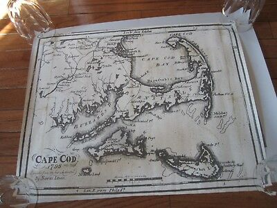 Map of Cape Cod and ship reproduction Harbor Square.