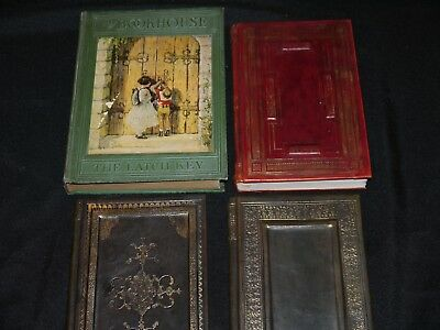 Lot of 5 Antique Vintage Books Leather Irving Wallace Sue Grafton Kingston