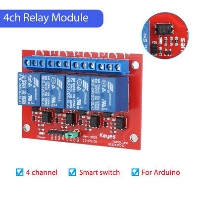 Relay Shield Module LED High Lever Trigger For Arduino 220V Compatible Durable