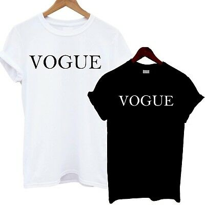 Vogue T Shirt Celebrity Party Fashion Slogan Tumblr Slouch Sexy Hot Women Tee T-