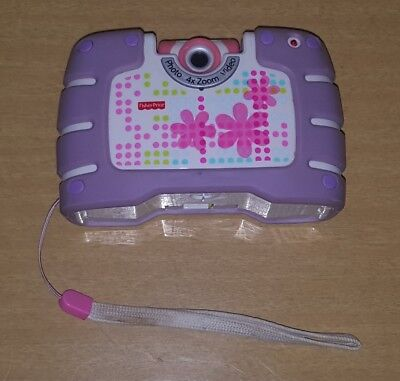 Fisher Price Digital 4X Zoom Photo Video Camera Purple Child Kid Tough Toy Play