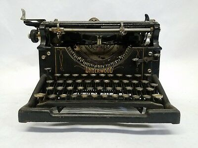 Antique Underwood Standard No. 5 Typewriter As-Is For Parts Free Shipping