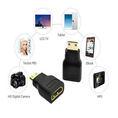 Mini HDMI Female to Mini HDMI Type C Male Convertor Adapter Gold Plated Fast US