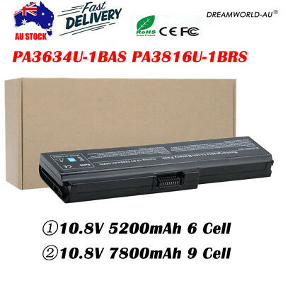6 Cell Battery For Toshiba Satellite L650 A660 C650 L670D PA3634U-1BAS Lot