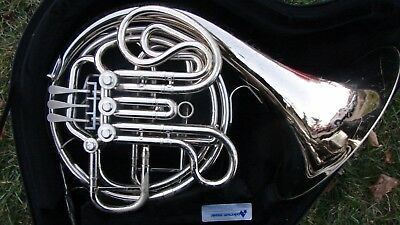 Nickel Silver King Eroica  Double French Horn  Plays Great Compression + Case
