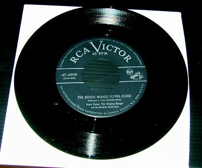 45 rpm Snow, Hank, The Boogie Woogie Flying Cloud / I Went to Your Wedding