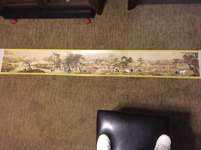 Chinese Scroll Painting 100 Stallions by Lang Shih-ling Giuseppe Catiglione