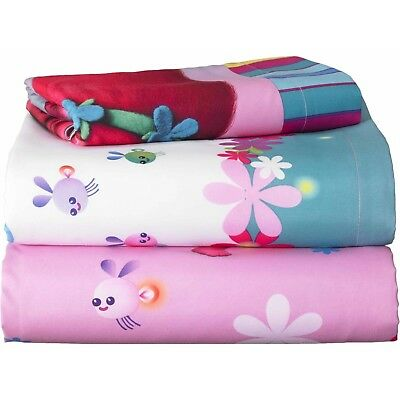 trolls movie bed in bag bedding cover set kids girls twin size