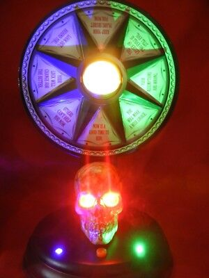 Animated Life Size Haunted Fortune Telling Wheel Lighted / Talks Halloween Prop