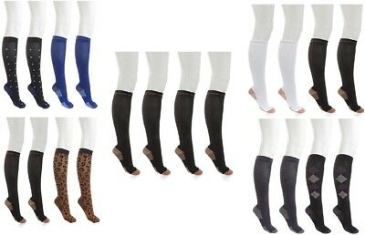 Copper Fit™ Unisex Knee-High Compression Socks 4-pairs pack