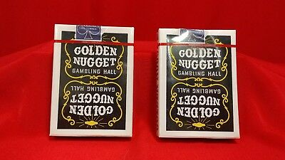 NEW UNOPENED DECKS of GOLDEN NUGGET GAMBLING HALL CARDS - LOT OF 2