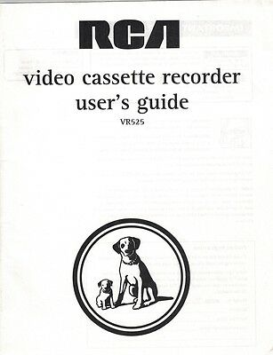 RCA Video Cassette Recorder VCR User's Guide for VR525 Manual Paperback