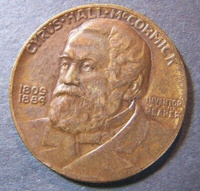 International Harvester Company Cyrus McCormick Reaper Medallion 1831-1931
